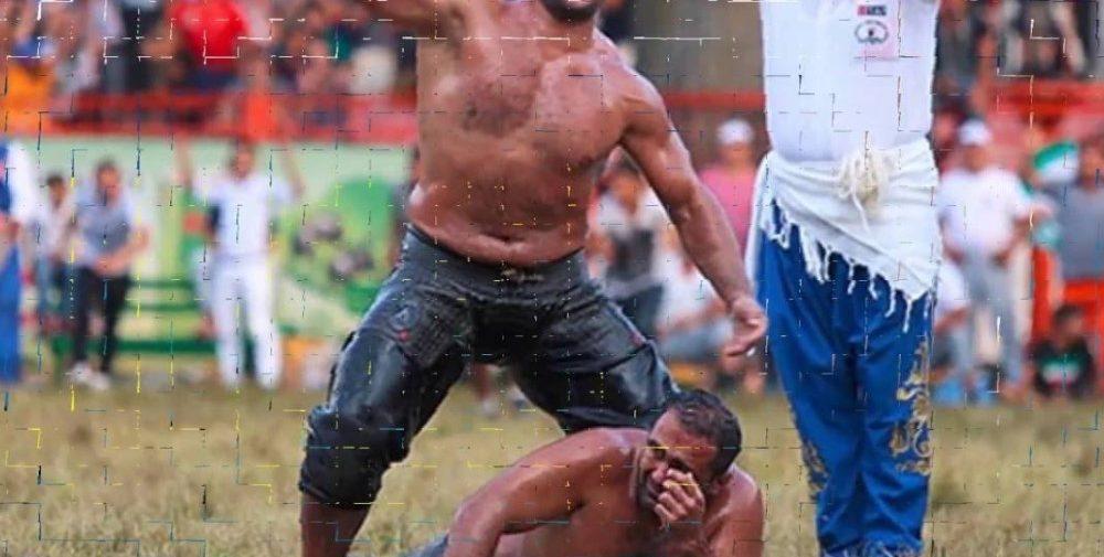 Müthiş Kapışma Recep Kara Sumo Güreşçisini Tuş Etti